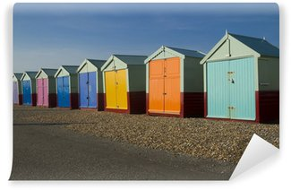 Vinyl Wall Mural Seaside beach huts