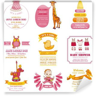 Baby shower wall murals pixers for Baby shower wall mural
