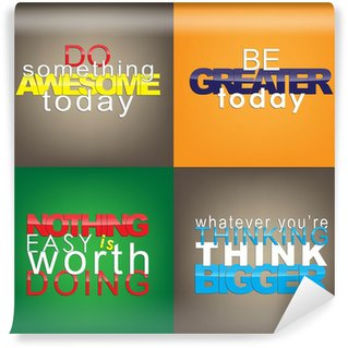 Wall Mural - Vinyl Set Of Motivational Quotes.