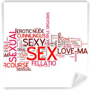 """SEX"" Tag Cloud (love making sexual intercourse sexy sensual) Wall Mural - Vinyl"