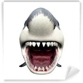 Wall Mural - Vinyl Shark Attack