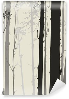silhouette of the forest Wall Mural - Vinyl