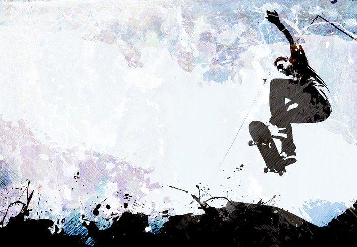Skateboarding Grunge Layout