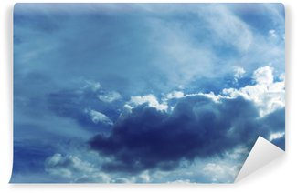 Sky background with clouds Wall Mural - Vinyl