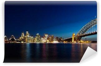 Skyline of Sydney by Night Wall Mural - Vinyl