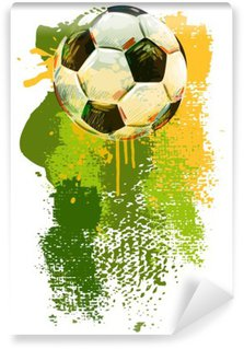 Soccer ball Banner. All elements are in separate layers and grouped.