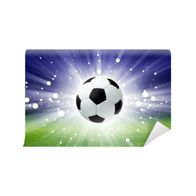 Soccer ball, stadium, light Wall Mural • Pixers® • We live ...