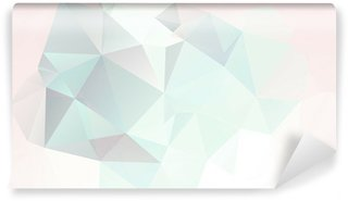soft pastel abstract geometric background with gradients vector Wall Mural - Vinyl