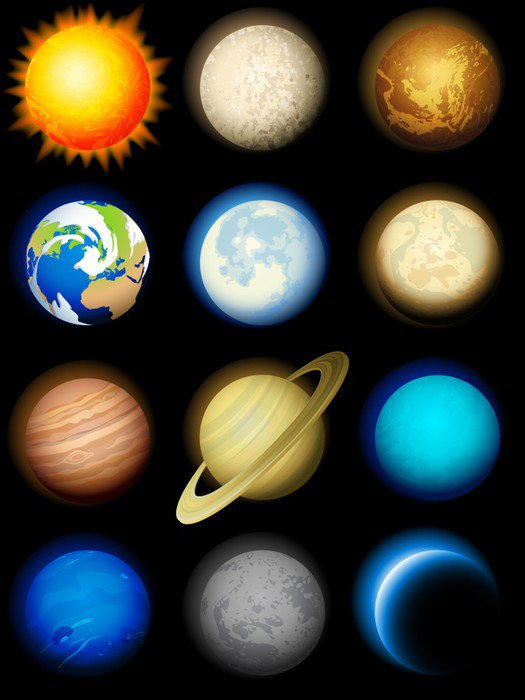 Charming Solar System Wall Murals · Beautiful Solar System Wall Murals