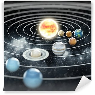 Solar system illustration Wall Mural - Vinyl