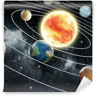 Solar system illustration Wall Mural - Vinyl