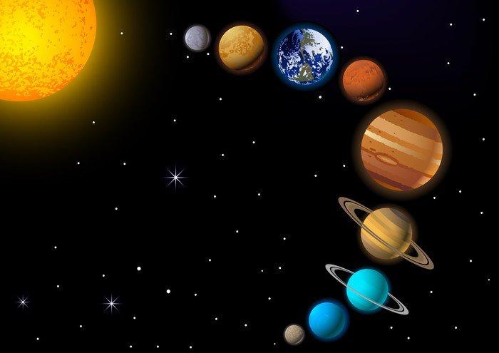 Wall Mural   Vinyl Solar System   Destinations