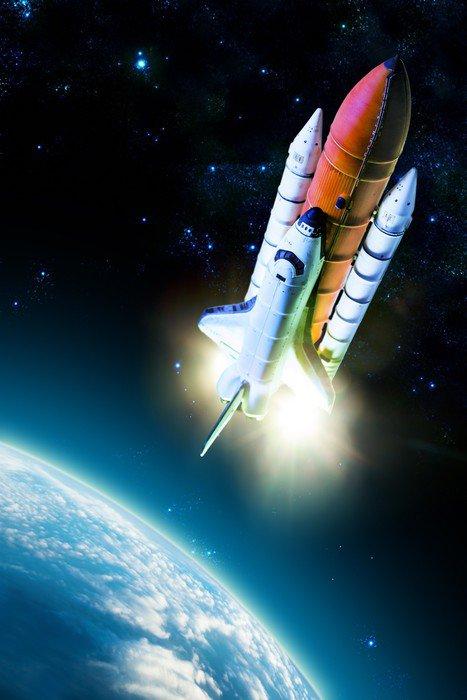 Wall Mural   Vinyl Space Shuttle   Air Part 37