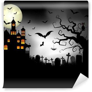 Wall Mural - Vinyl Spooky Halloween background