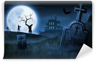 Wall Mural - Vinyl Spooky Halloween night