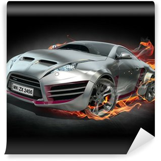 Wall Mural - Vinyl Sports car burnout