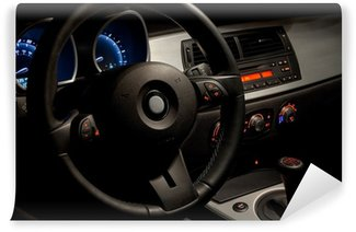 Sports car interior with dramatic nighttime lighting Wall Mural - Vinyl