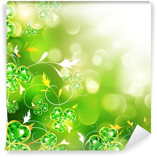 Wall Mural - Vinyl St.Patrick Over Bright Background