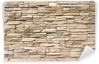 Stacked stone wall background horizontal Wall Mural - Vinyl