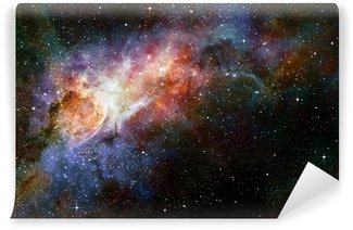 starry deep outer space nebual and galaxy Wall Mural - Vinyl