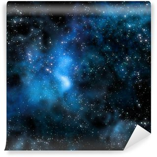 starry deep outer space nebula and galaxy Wall Mural - Vinyl
