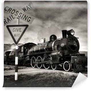 Wall Mural - Vinyl Steam Locomotive