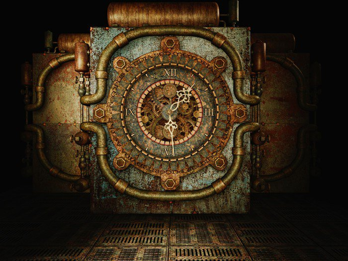 Steampunk time Wall Mural Vinyl • Pixers • We live to