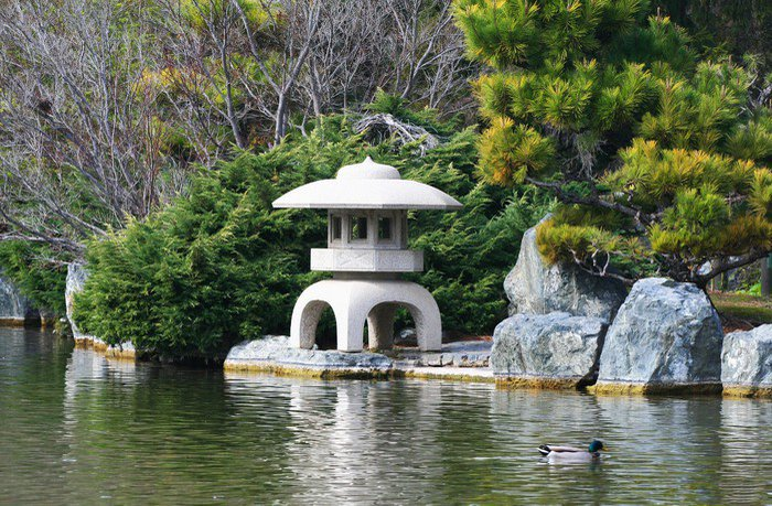 Wall Mural   Vinyl Stone Temple In Japanese Garden   Public Buildings Part 42