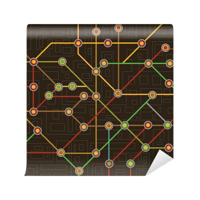 Subway map wall mural pixers we live to change sciox Choice Image