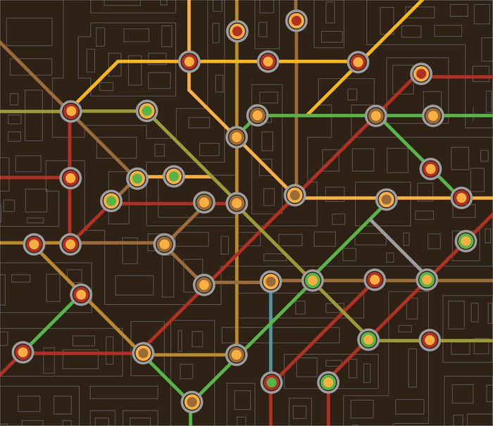 Subway map wall mural vinyl pixers we live to change wall mural vinyl subway map on the road sciox Images