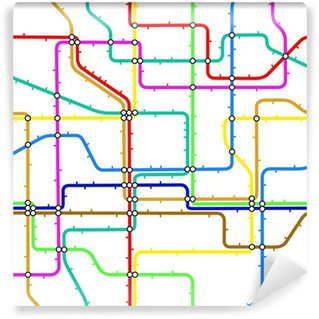 Abstract subway map seamless wall mural pixers we live to change subway tile vinyl wall mural sciox Choice Image
