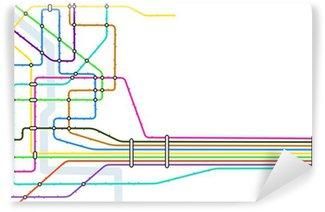 Fictional metro map in shape of heart vector illustration wall subway vinyl wall mural sciox Choice Image