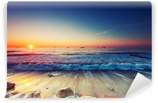 Sunrise over sea Wall Mural - Vinyl