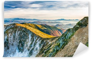Wall Mural - Vinyl Sunset in the mountains