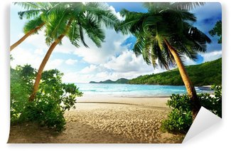 sunset on beach, Mahe island, Seychelles Wall Mural - Vinyl