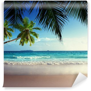 sunset on Seychelles beach Wall Mural - Vinyl