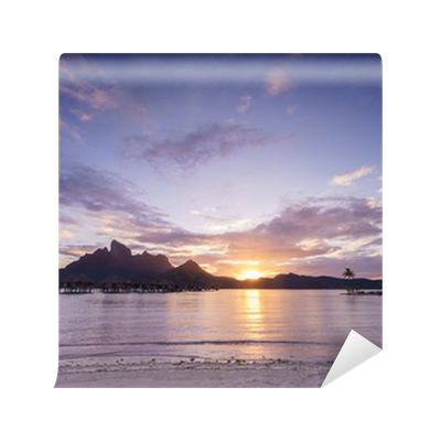 Sunset over bora bora wall mural pixers we live to change for Bora bora wall mural