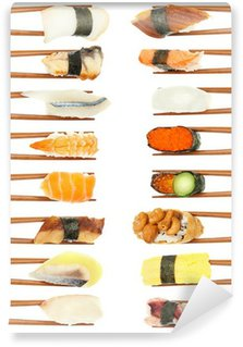 Wall Mural - Vinyl Sushi & Chopsticks