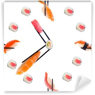 Wall Mural - Vinyl Sushi with chopsticks