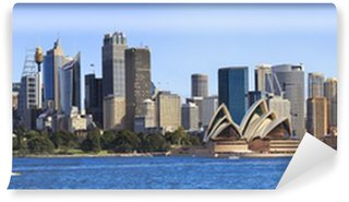 Sydney CBD Day From Boat panorama Wall Mural - Vinyl