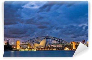 Sydney Harbour Twilight Wall Mural - Vinyl