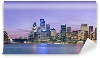 Sydney skyline as viewed across the harbour from Kirribilli Wall Mural - Vinyl