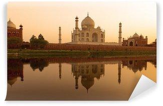 Taj Mahal at sunset. Wall Mural - Vinyl