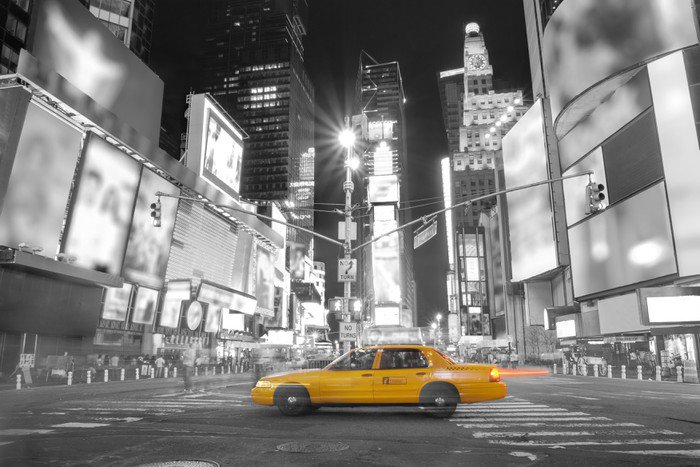 Wall Mural   Vinyl Taxi In New York   Themes