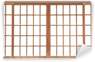 texture of Japanese sliding paper door Shoji Wall Mural - Vinyl