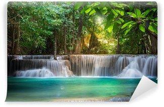 Thailand waterfall in Kanchanaburi (Huay Mae Kamin) Wall Mural - Vinyl