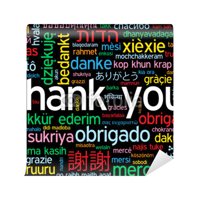 Thank you card a lot thanks gratitude message words tag for Thank you mural