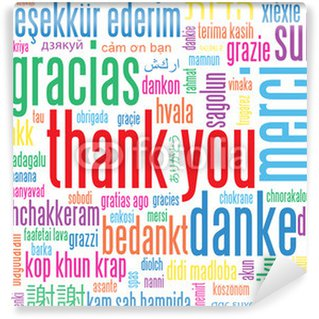Evaluation wall murals pixers for Thank you mural