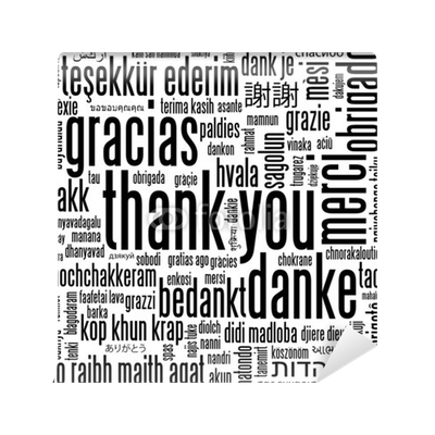 Thank you card thanks gratitude appreciation message tag for Thank you mural