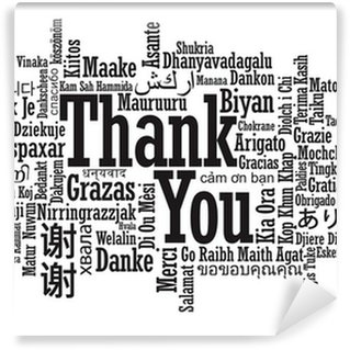 Thanks wall murals pixers for Thank you mural